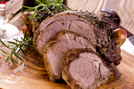 beef cuts: lamb roast Stock Photo