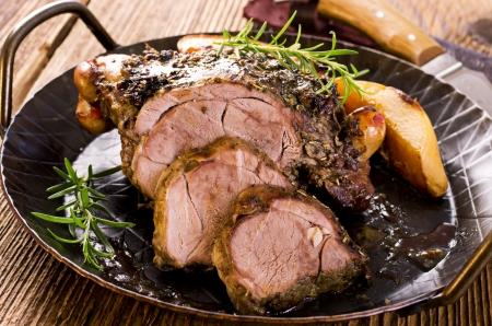 roast lamb: lamb roast Stock Photo