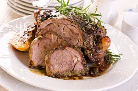 beef stew: lamb roast Stock Photo