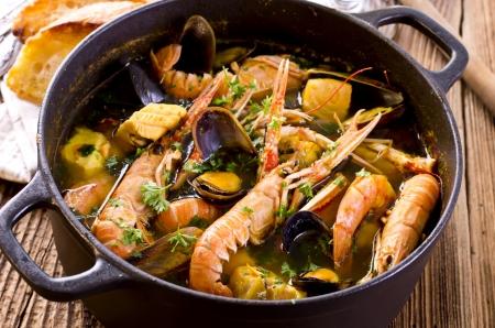 seafood soup: seafood soup  Stock Photo
