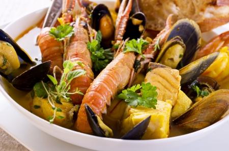 seafood soup: bouillabaisse Stock Photo