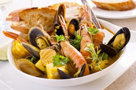 seafood soup: seafood soup