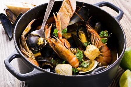 seafood soup: seafood stew