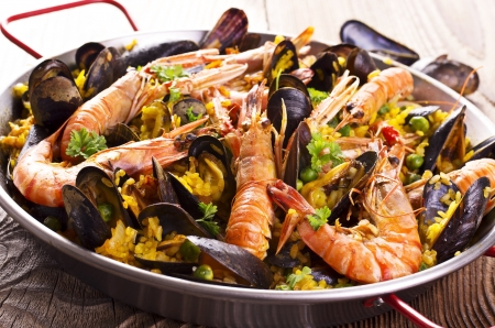 valencia orange: seafood paella