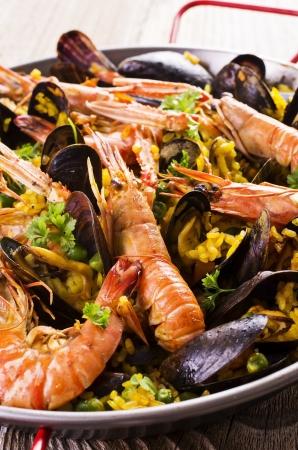 seafood paella Stock Photo - 18976087