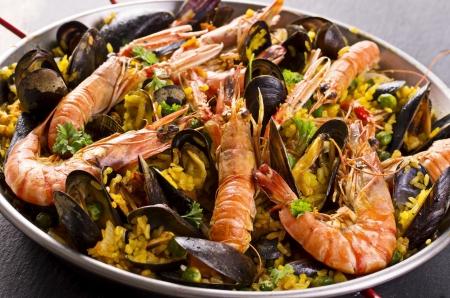 marisco: paella Stock Photo