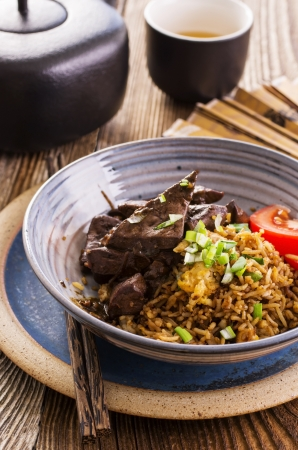 chop stick: fried rice with liver