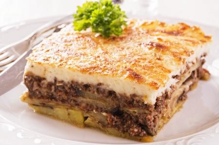 greek food: mousakas Stock Photo