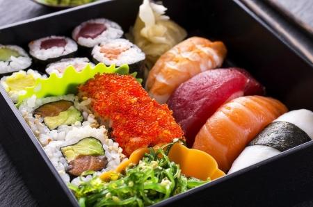 bento box: bento box with sushi