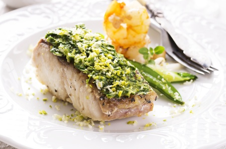 goatfish: fish filet fired with herbs