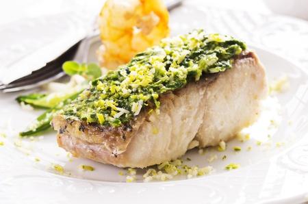 goatfish: fish filet with vegetable