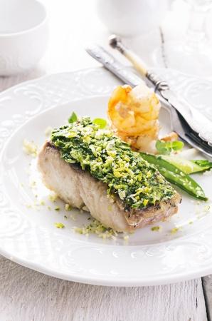 goatfish: fishfilet with vegetables