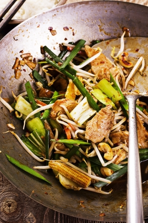 hoisin sauce: chicken with vegetables stir fried