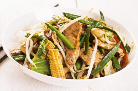 chicken with vegetables  photo