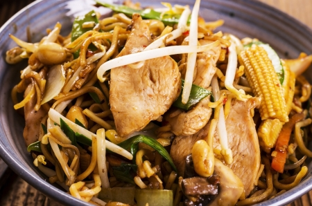 mie noodles: stir fried noodles with chicken