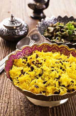 barberries: zereshk polo rice with barberries