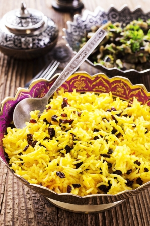 saffron: saffron rice with barberries