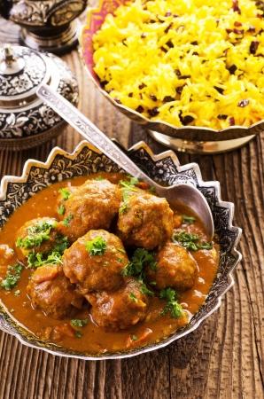 self made: meatballs kufteh with saffron rice