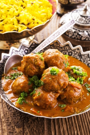 self made: meatballs with saffron rice