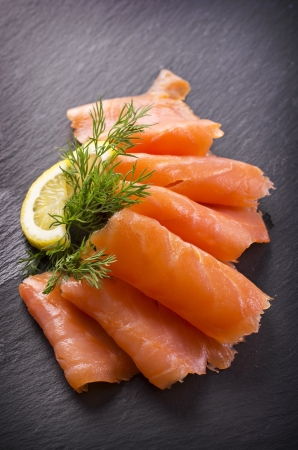 salmon fish: smoked salmon