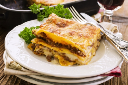 lasagne with ground meat  Stock Photo - 20360152