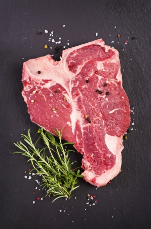 t-bone steak with spices Stock Photo