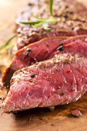 beef cuts: beef steak Stock Photo