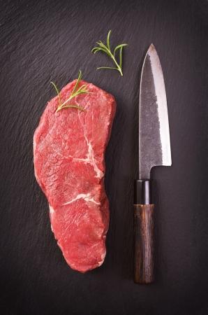 t bone steak: beef steak Stock Photo
