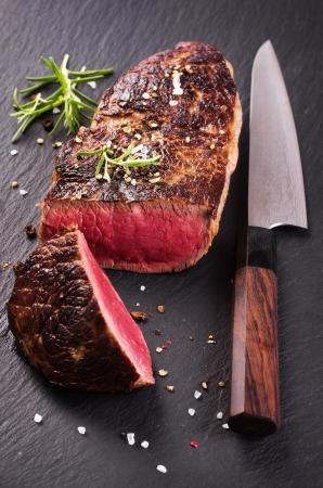 raw steak: beef steak Stock Photo