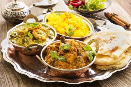 comida: culinária indiana Banco de Imagens