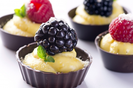 brambleberry: chocolate tartlets