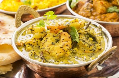 tandoori chicken: indian prawn curry