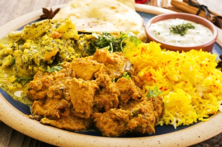 meat dish: Indian food Stock Photo