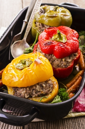 peppers filled with ground meat