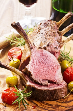 english food: roasted venison carree