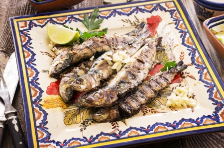 sardinas asadas portugu�s photo