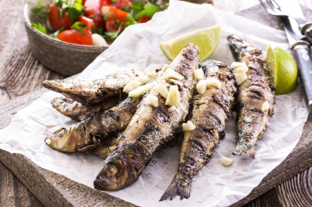 anchovy fish: grilled sardines