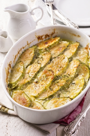 zucchini: zucchini gratin