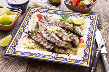 portuguese grilled sardines photo