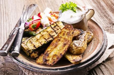 feta: grilled vegetable Stock Photo