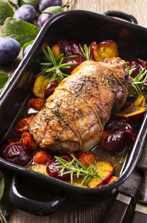 lamb braised with plums photo