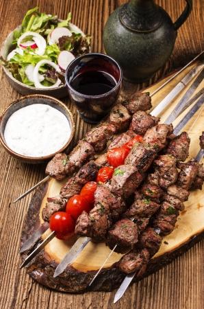 kebab: lamb shashlik