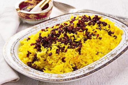 basmati: sereshk polo - persian rice with berberis