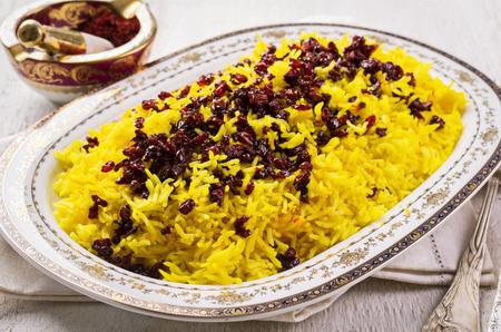 persian saffron rice with berberis