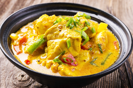 fish in coconut milk Stock Photo