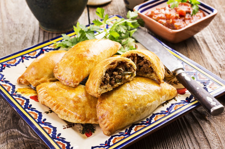 empanadas with ground meat Stock Photo