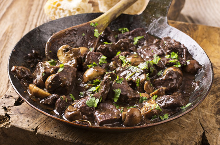 red braised: deer meat in wine sauce Stock Photo