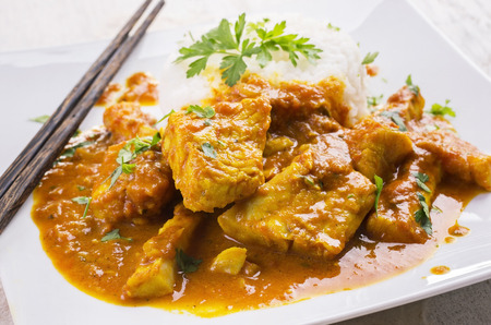 red braised: fish curry