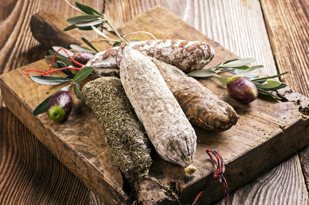 air dried salami: salami
