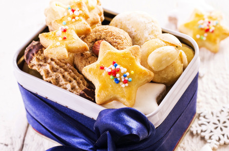 comfit: christmas cookies in a box Stock Photo